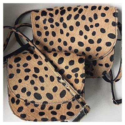 SADDLE BAG MARNY SMALL FURRY LEOPARD PRINT