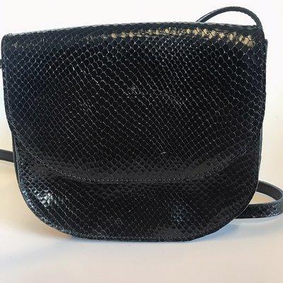 SADDLE BAG PHYTON PRINT SAKE SMALL BLACK