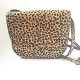 SADDLE BAG MIJA II LARGE FURRY LEOPARD PRINT_