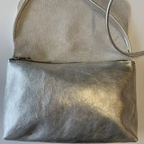 SOFT CORD SADDLE  BAG  SILVER_