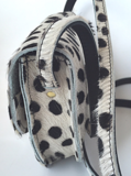 SADDLE BAG NANNE SMALL FURRY DALMATION PRINT_