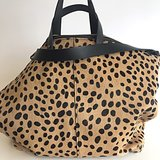 SHOPPER MARNY FURRY LEOPARD PRINT_