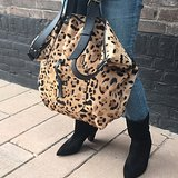 SHOPPER LOKI FURRY LEOPARD PRINT_