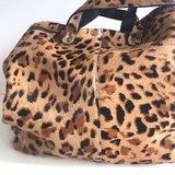 MOMMY BAG LOKI FURRY LEOPARD PRINT_