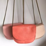 SADDLE BAG CHAIN COLETTE SMALL CORAL_