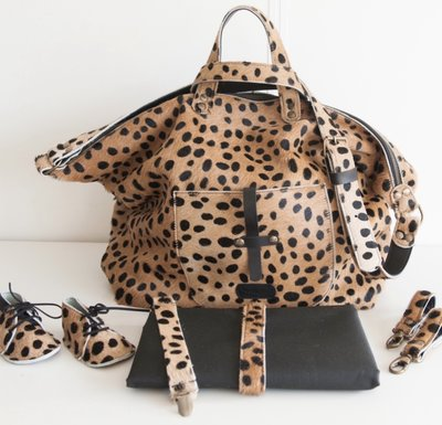 MOMMY BAG MARNY FURRY LEOPARD PRINT