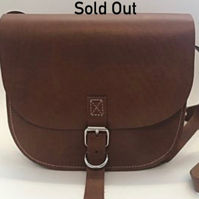 SADDLE BAG SAC I BUCKLE LARGE COGNAC