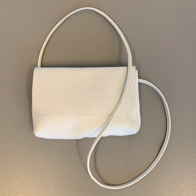 SOFT CORD SADDLE  BAG SMALL PHAE WHITE