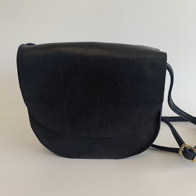 SADDLE BAG NAVY SMALL sample/stock sale