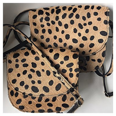 SADDLE BAG MARNY SMALL FURRY LEOPARD PRINT