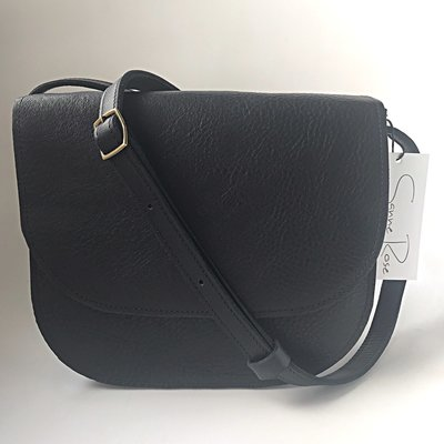 SADDLE BAG THIRZA LARGE BLACK BACK INSTOCK