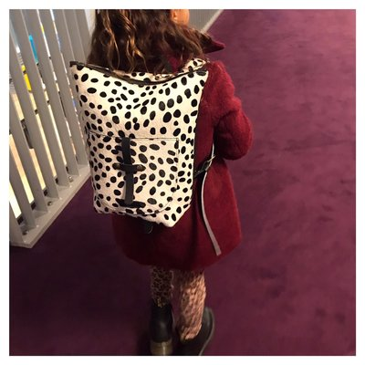 BACKPACK SMALL NANNE DALMATIAN PRINT