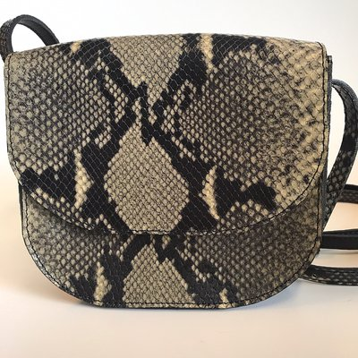 SADDLE BAG PHYTON PRINT FREDRIKA SMALL CHALK