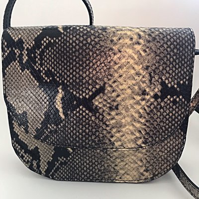 SADDLE BAG PHYTON PRINT FREDRIKA LARG LARGE