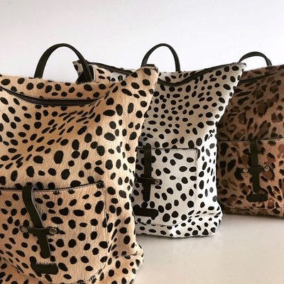 BACKPACK LARGE MARNY LEOPARD PRINT