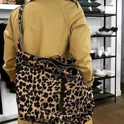 SHOPPER PHEADRA  FURRY LEOPARD PRINT