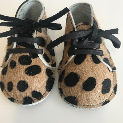 NEW BORN BABYBOOTIE MARNY LEOPARD PRINT