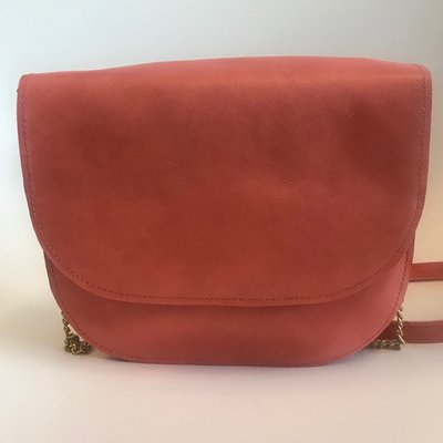 SADDLE BAG CHAIN COLETTE LARGE CORAL
