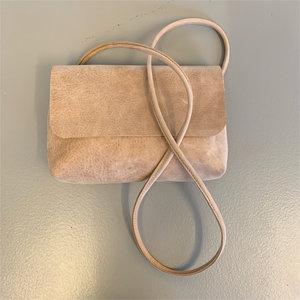 SOFT CORD SADDLE  BAG SMALL MOA NUDE