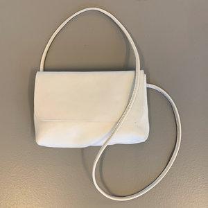 SOFT CORD SADDLE  BAG SMALL PHAE WHITE
