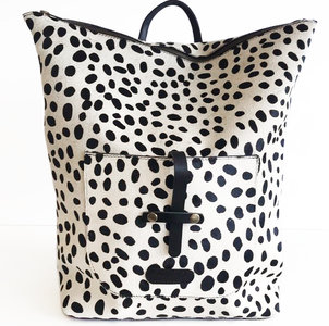 BACKPACK LARGE NANNE DALMATIAN PRINT