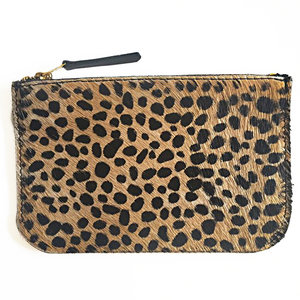 WALLET MIJA II SMALL FURRY LEOPARD PRINT