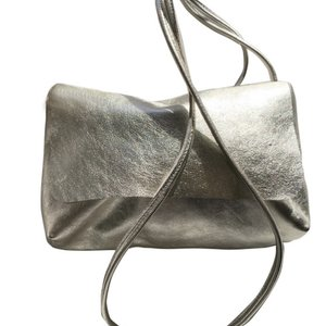 SOFT CORD SADDLE  BAG  SILVER