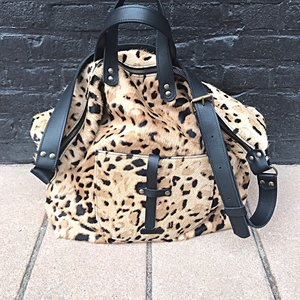 SHOPPER LOKI FURRY LEOPARD PRINT
