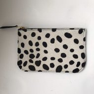 NANNE DALMATIAN FURRY WALLET SMALL